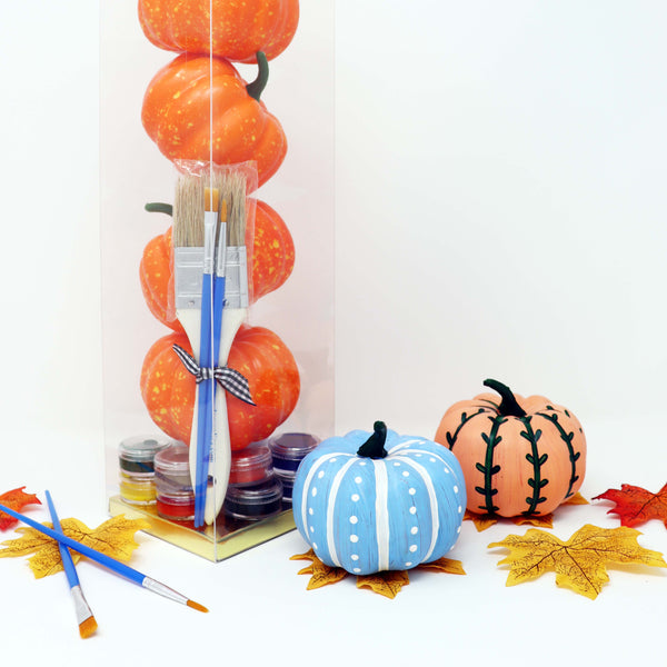Wholesale DIY in a BOX | Fall 2020 Collection | Set of 4 Faux Pumpkins