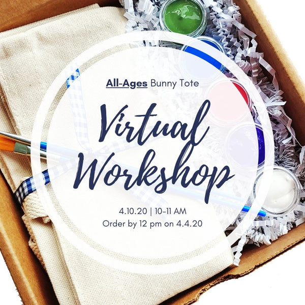 All-Ages Online Workshop | Bunny Tote Bag | 4.10.20 @ 10-11 AM