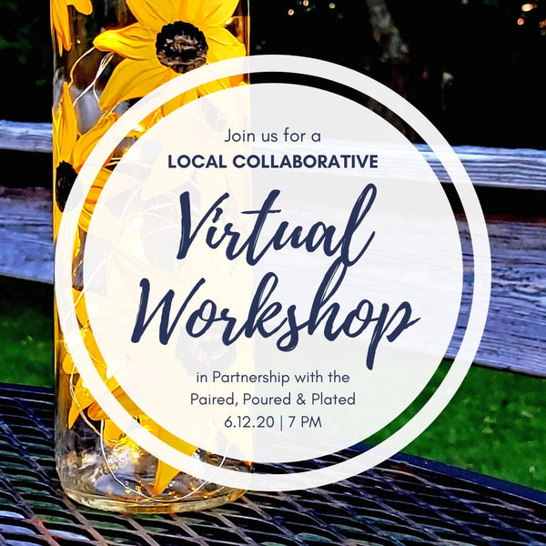 Virtual Art Workshop with **LOCAL PICKUP** at Paired, Poured & Plated in Northborough MA | Sunflower Lantern | 6.12.20 @ 7PM