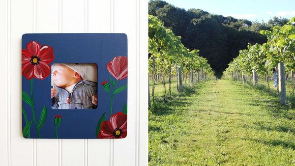 **OUTDOOR EVENT** Poppy Wooden Frame Paint & Sip | Hawk Ridge Winery in Watertown CT | 8.20.20 | 6-8 PM