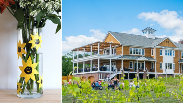 Sunflower Paint & Sip | Brignole Vineyards in East Granby CT | 4.21.21 | 5-7 PM