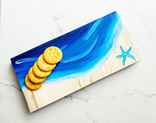*VIRTUAL* Art Workshop | Beachy Reclaimed Wood Cheese Board | 8.13.20 @ 7 PM