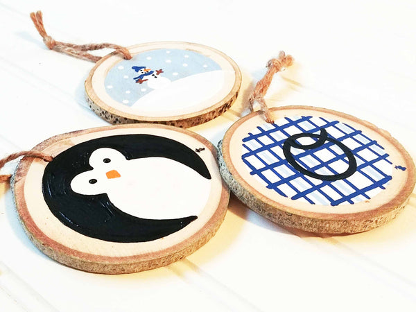 Black & Blue Ornament Trio Paint & Sip