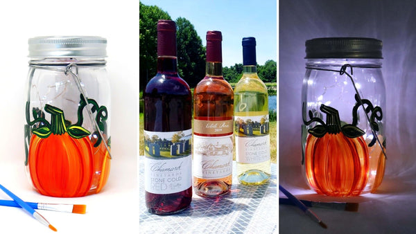 **VIRTUAL WORKSHOP WITH LOCAL PICKUP** at Chamard Vineyards in Clinton CT | Pumpkin Solar Lantern | 8.27.20 @ 7PM