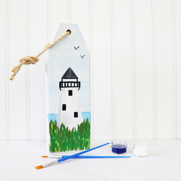 *VIRTUAL* Art Workshop | Cape Cod Light Wooden Buoy | 7.30.20 @ 7 PM