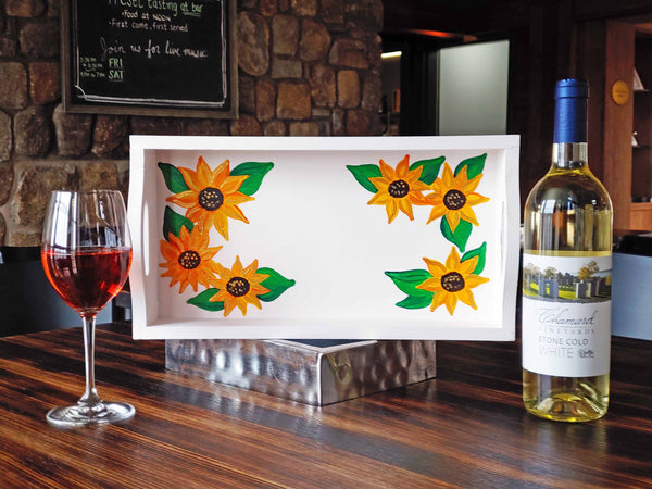 Sunflower Tray Paint & Sip at Chamard Vineyards in Clinton CT | 4.24.19 at 6:30 PM