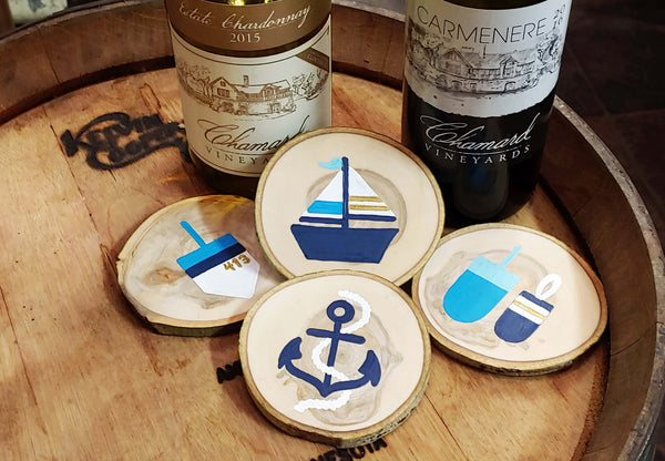 "Nautical ""July 4th Pre-party"" Paint & Sip & at Chamard Vineyards in Clinton CT 