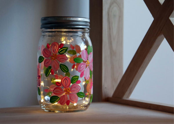 Virtual Art Workshop | Cherry Blossom Solar Lantern | 2.17.21 @ 7 PM