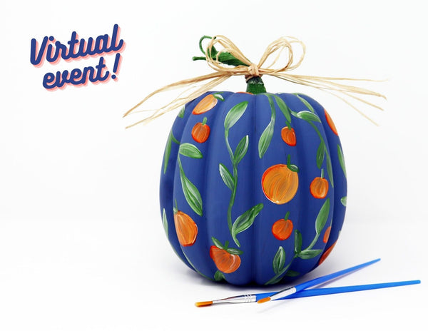 *VIRTUAL* Art Workshop | Peach Faux Pumpkin | 10.13.20 @ 7 PM
