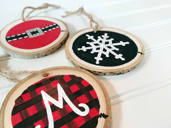 Rustic Ornament Trio Paint & Sip