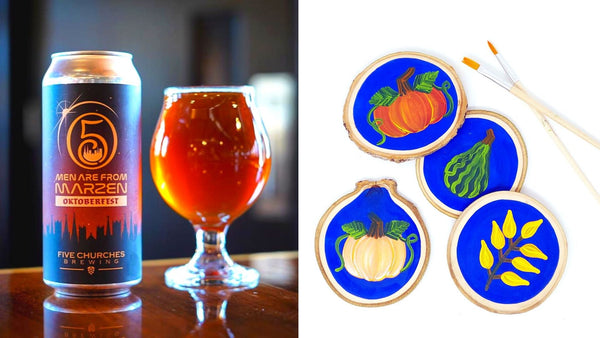 Fall Pumpkin Paint & Sip at Five Churches Brewing in New Britain CT | 11.4.19 at 6:30 PM