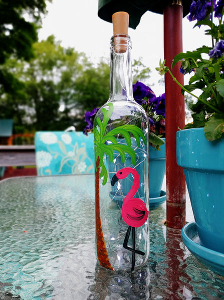 Wholesale DIY in a BOX | Tropical Wine Bottle Lantern