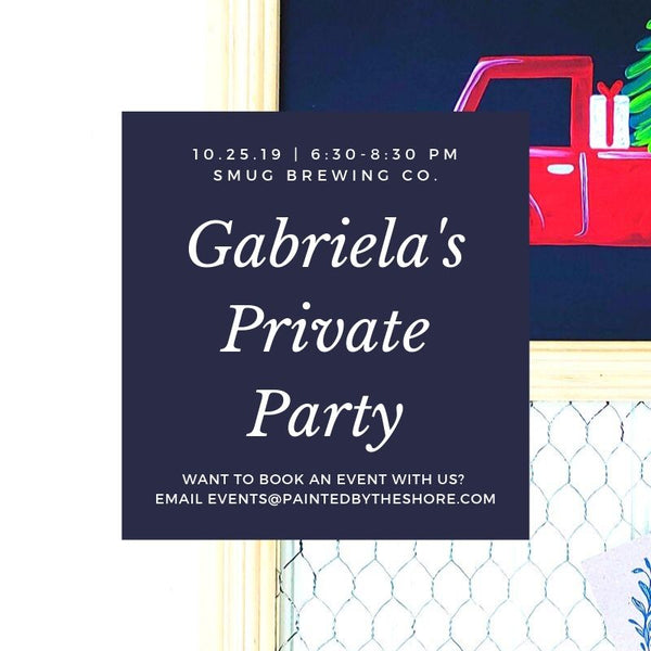 Gabriela's Private Paint & Sip at Smug Brewing Co. in Pawtucket RI | 10.25.19 at 6:30 PM