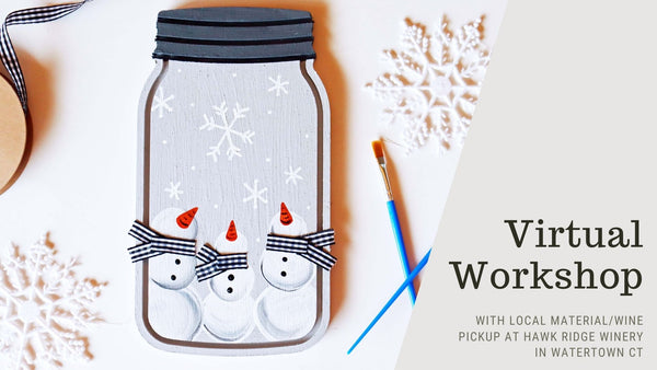 Virtual Workshop with *LOCAL PICKUP* at Hawk Ridge WInery in Watertown CT | Winter Sign | 12.15.20 @ 7PM