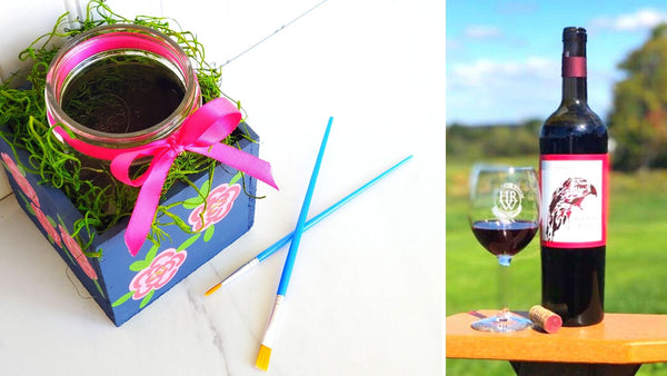 **OUTDOOR EVENT** Mason Jar Centerpiece Paint & Sip | Hawk Ridge Winery in Watertown CT | 8.14.20 | 6-8 PM