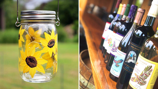 **OUTDOOR EVENT** Sunflower Solar Lantern Paint & Sip | Hawk Ridge Winery in Watertown CT | 8.21.20 | 6-8 PM