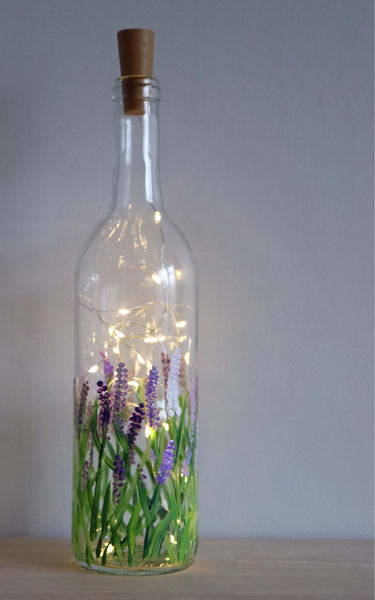 Virtual Art Workshop | Lavender Wine Bottle Lantern | 2.18.21 @ 7 PM