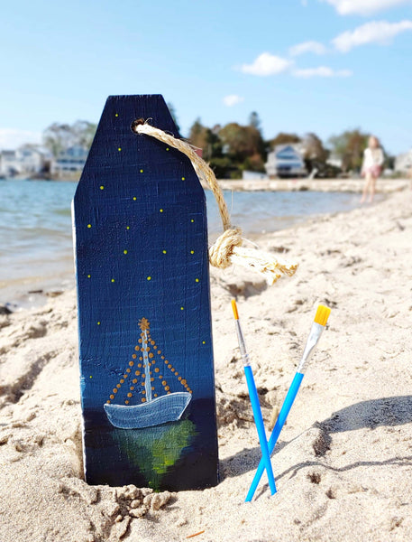 *Holiday Preview* Virtual Art Workshop | Lighted Boat Wooden Buoy | 11.3.20 @ 7 PM