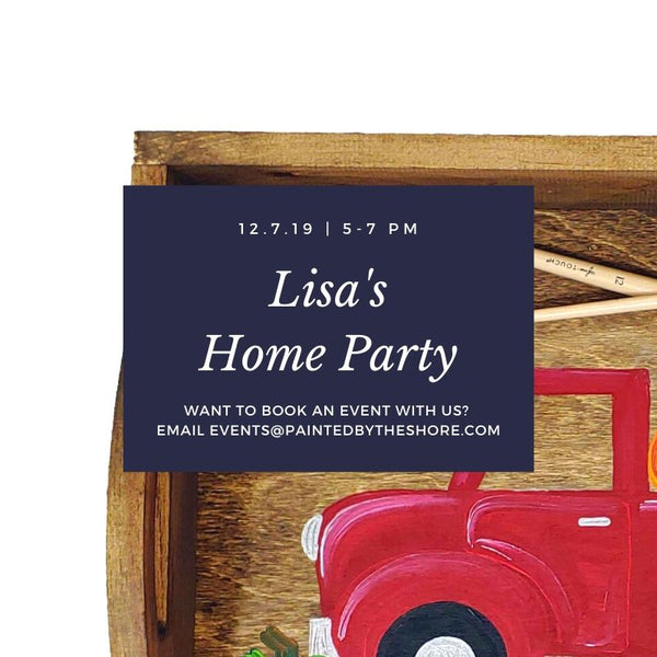 Lisa's Paint & Sip Home Party in Norwich CT | 12.7.19 | 5-7 PM