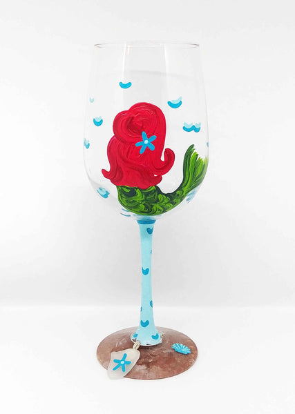 Mermaid Wine Glass Paint & Sip