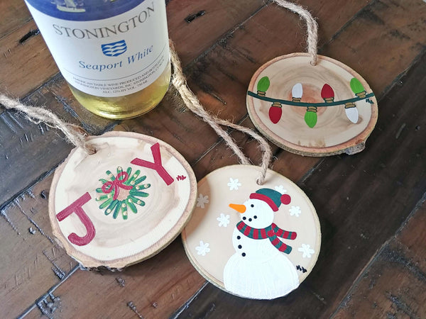 Rustic Ornament Set Paint & Sip (11:00 AM)