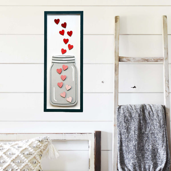 *GALENTINE'S DAY* Virtual Art Workshop | Ombre Heart & Mason Wood Sign | 2.13.21 at 7 PM