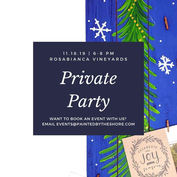 Private Party at Rosabianca Vineyards in Northford CT | 11.18.19 at 6 PM