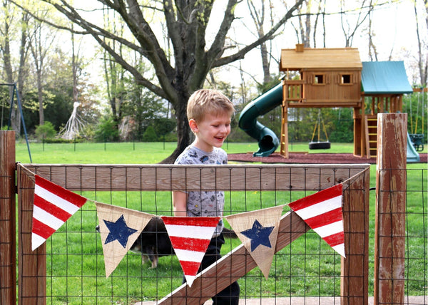 DIY in a BOX | Patriotic Burlap Bunting