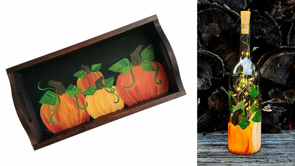 PYO Project: Pumpkin Tray or Lantern Paint and Sip at Raymour & Flanigan Outlet in Manchester CT | 9.20.19 | 5:30-8 PM