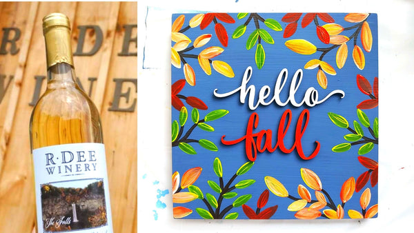 **OUTDOOR EVENT** Fall Sign Paint & Sip | R Dee Winery in Enfield CT | 10.15.20 | 5:30-7:30 PM