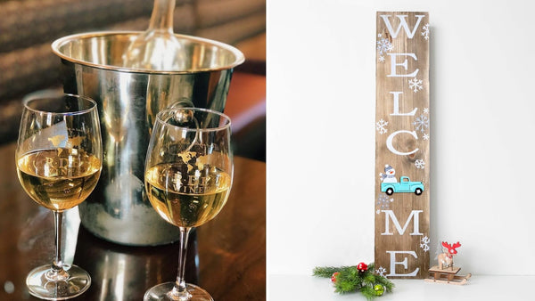 "*Holiday Preview* WELCOME 36"" Winter Pallet Sign 