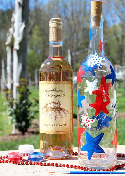 **OUTDOOR** Patriotic Lantern Paint & Sip | Rosabianca Vineyards in Northford CT | 6.26.21 | 11AM-1PM