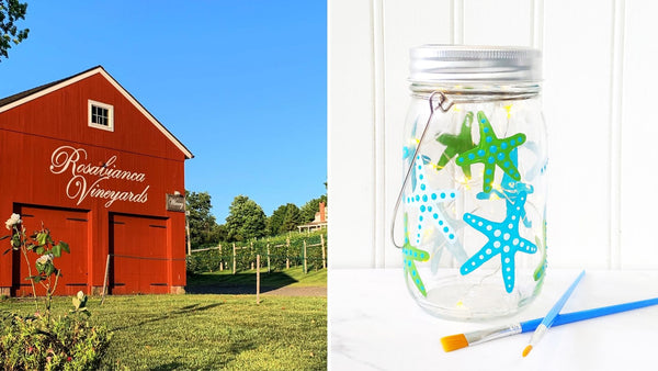 **OUTDOOR EVENT** Starfish Solar Lantern Paint & Sip | Rosabianca Vineyards in Northford CT | 8.22.20 | 11AM-1PM