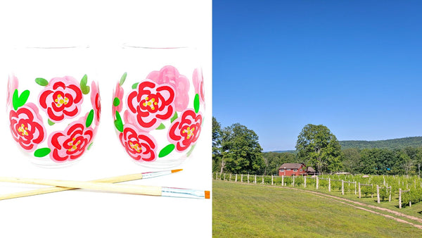 Outdoor Flower Paint & Sip at Rosabianca Vineyards in Northford CT | 7.25.20 | 11 AM - 1 PM