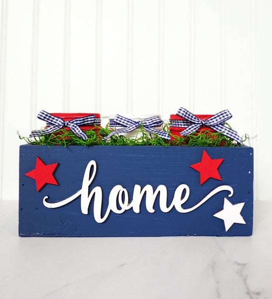 DIY in a BOX | 4th of July Mason Jar Centerpiece