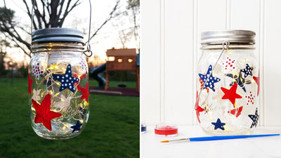 Michelle's Private Virtual Art Workshop | Patriotic Solar Lantern | 6.5.20 @ 5:30 PM