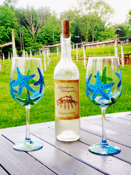 Starfish Paint and Sip at Rosabianca Vineyards in Northford CT | 7.13.19 at 11 AM