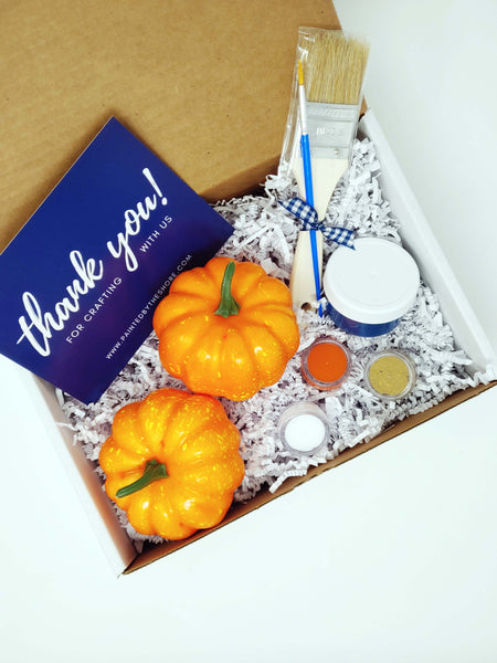 September 2020 DIY in a BOX Subscription Kit | Faux Pumpkin Pair