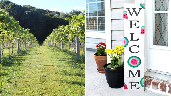 **OUTDOOR** Summer WELCOME Sign Paint & Sip | Hawk Ridge Winery in Watertown CT | 5.14.21 | 6-8 PM