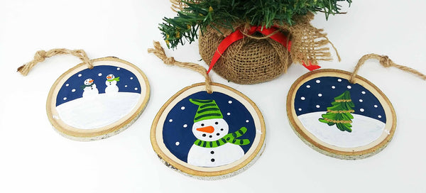 Virtual Art Workshop | Snowman Ornament Trio | 11.11.20 @ 7 PM