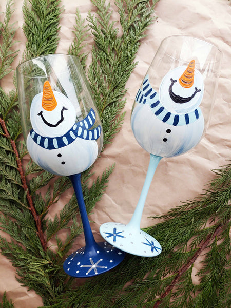 Virtual Art Workshop | Winter Wine Glass Set | 12.15.20 @ 7 PM