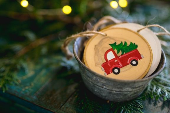 DIY in a BOX | Red Truck Ornament