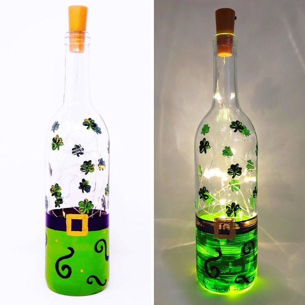 Virtual Art Workshop | St. Patrick's Day Wine Bottle Lantern | 2.23.21 @ 7 PM