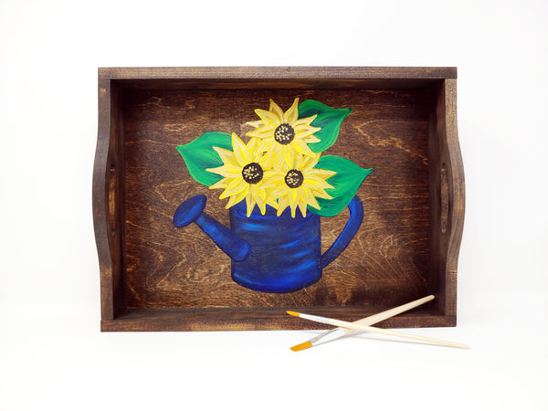 Sunflower Tray Paint & Sip at Westfield River Brewing in Southwick MA | 4.3.19 at 6:30 PM