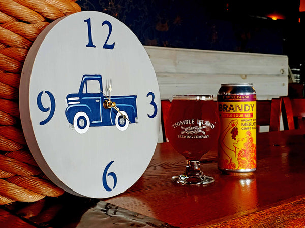 Chalkboard Clock Paint & Sip at Thimble Island Brewery in Branford CT | 6.5.19 at 6 PM