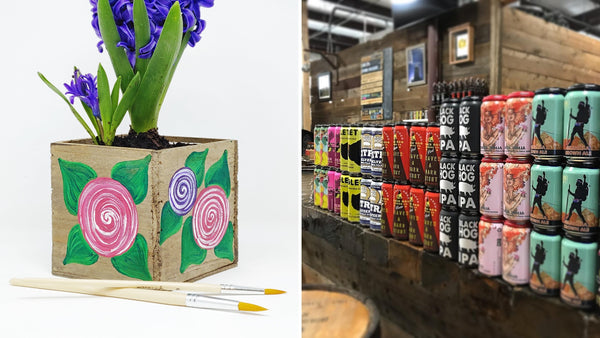 Planter Paint & Sip at Black Hog Brewing in Oxford CT | 4.25.19 at 6 PM