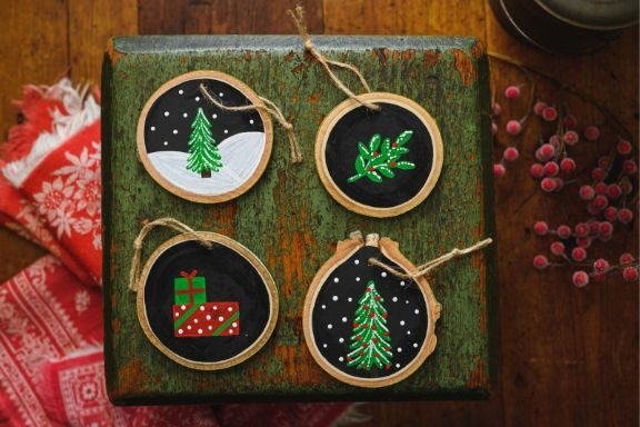 DIY in a BOX | Chalkboard Ornament Set of 4