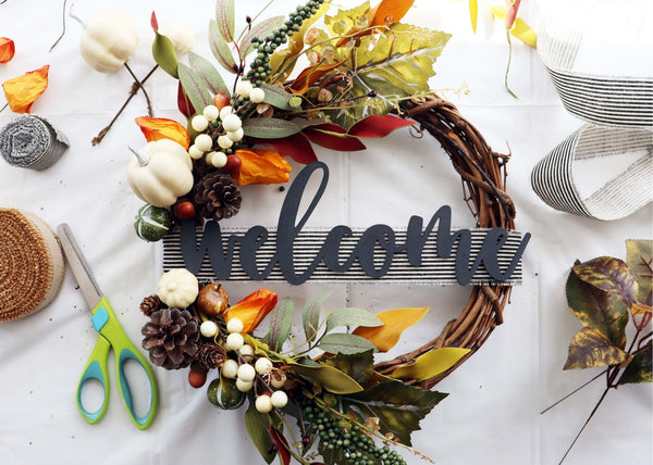 "*New* Virtual Art Workshop | Fall ""Welcome"" Wreath 