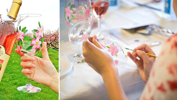Virtual Art Workshop | Cherry Blossom Wine Glass | 2.5.21 @ 7 PM