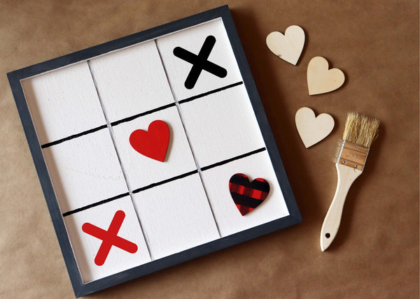 DIY in a BOX | Valentine Tic-Tac-Toe
